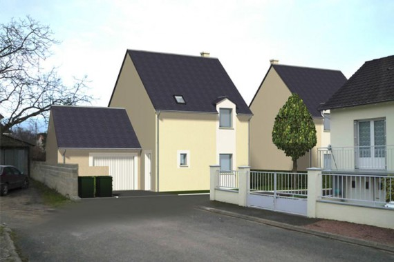 programme CHAMBRAY LES TOURS 37170 ALLEE DES FORGES Projet de 4 maisons de 85 m² Parc Grandmont agence tti 37 indre et loire